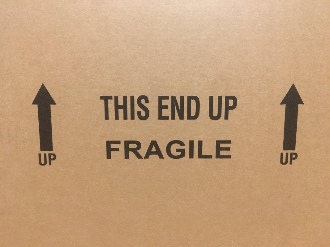 Shipping Box Fragile Sign